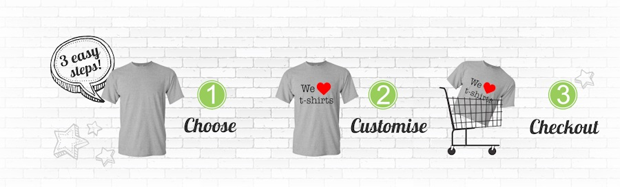 Design Your Own T-Shirt in 3 easy Steps via our T-Shirt Online Designer